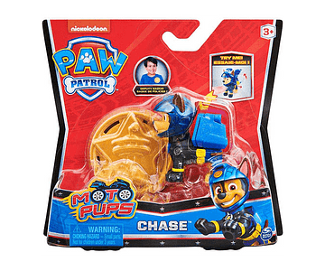 CHASE FIGURA MÁS INSIGNIA MOTO PUPS PAW PATROL