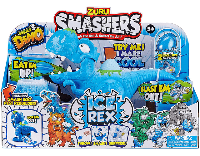 SMASHERS COLECCIONABLES SERIE 3 ICE AGE T-REX