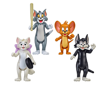 TOM Y JERRY PACK 4 FIGURAS