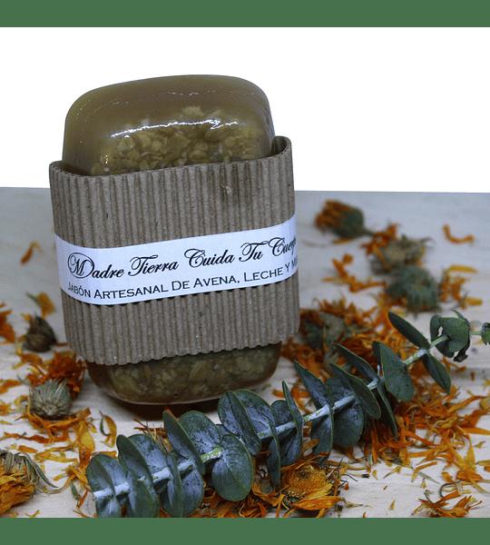 Jabón artesanal de avena