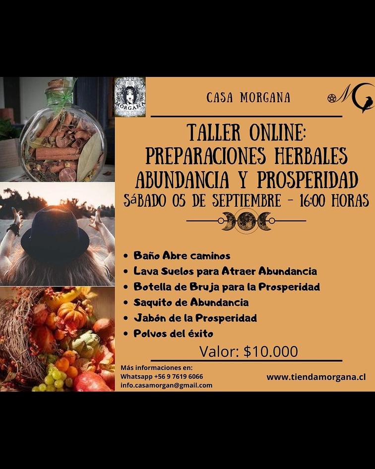 Taller Online: Preparaciones Herbales - Abundancia y Prosperidad