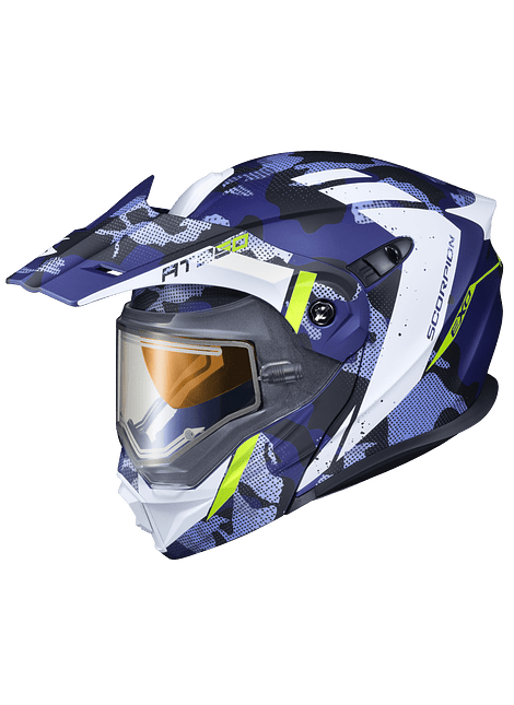 SCORPION EXO-AT950 OUTRIGGER DOBLE PANEL CAMMO BLUE