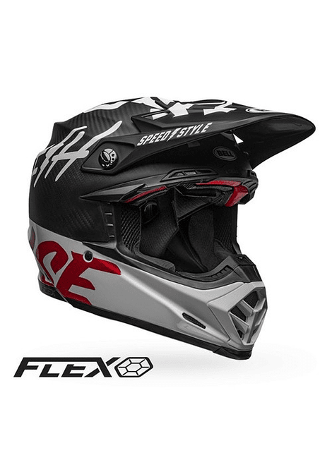 BELL CASCO MOTO-9 FLEX FASTHOUSE CARBON WHITE