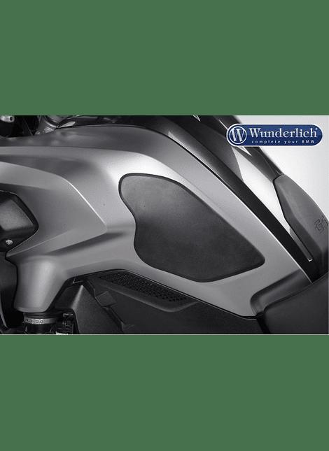 WUNDERLICH JUEGO DE ALMOHADILLAS DE PROTECCIÓN DE PINTURA (2 PIEZAS) BMW R1200 LC (2013-2016) - NEGRO