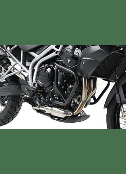 HEPCO & BECKER DEFENSA DE MOTOR NEGRA TRIUMPH TIGER 800 / XC (2010-2014)