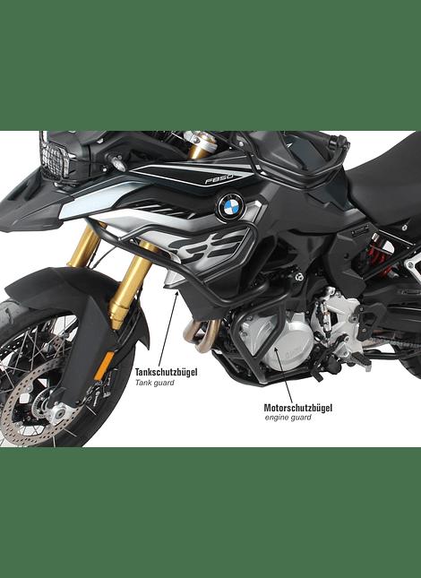 HEPCO & BECKER DEFENSA MOTOR BMW F 750/850 GS (2018-) NEGRO
