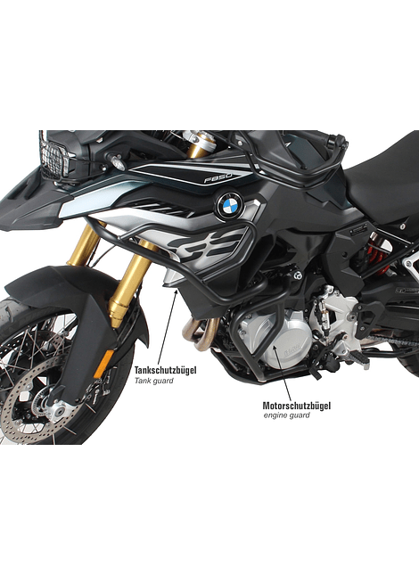 HEPCO & BECKER DEFENSA TANQUE BMW BMW F 750/850 GS (2018-) NEGRO