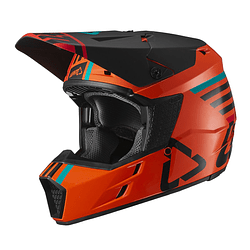 CASCO LEATT GPX 3.5 V19.2 NARANJO DOT + ECE