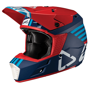 CASCO LEATT GPX 3.5 V19.2 ROJO/AZUL DOT + ECE