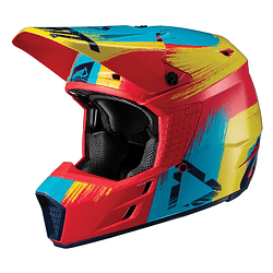 CASCO LEATT GPX 3.5 V19.2 REDLIME DOT + ECE
