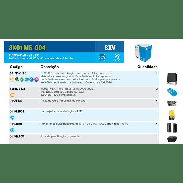 KIT PORTÃO DE CORRER BXV 24V 600KG 18M CAME