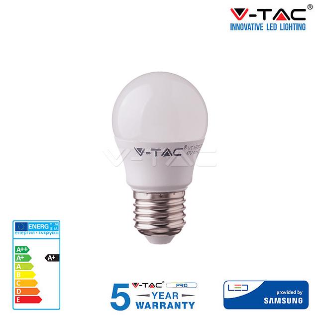 LAMPADA LED E27 5,5W 470Lm G45 BOLA Chip SAMSUNG