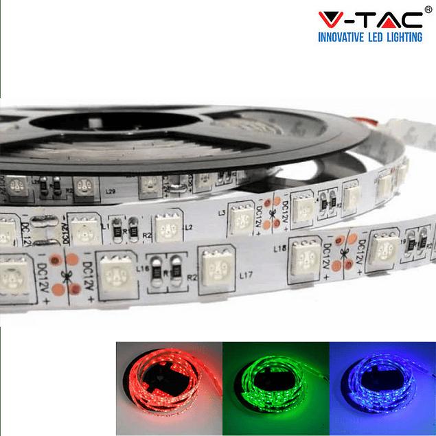 FITA LED 10.8W/m SMD5050 60LEDs/m 12V IP20 (5 metros)