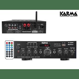 AMPLIFICADOR KARAOKE 2X50W FM/USB/MP3/BT KARMA