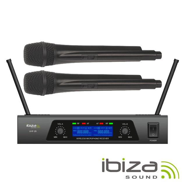 Central Microfone S/ Fios 2 Canais Uhf 863.9/864.9mhz IBIZA