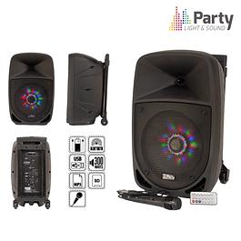 "COLUMNA AMPLIFICADA 8 ""300W USB / FM / BT / SD / BAT NEGRO - PARTY 8"