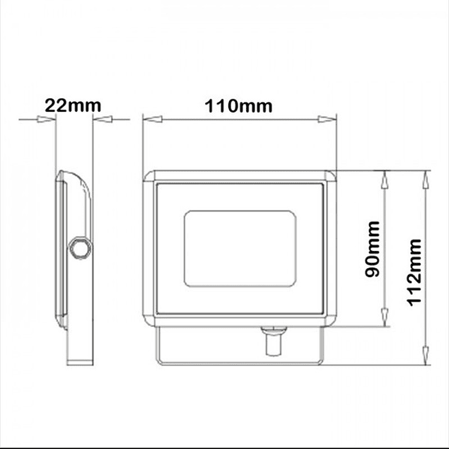 PROY. LED 10W »50W 850Lm PREMIUM SLIM