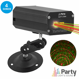RED / GREEN LASER C / 4 GOBOS PARTY