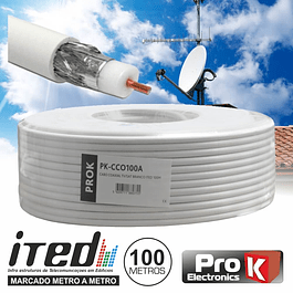 COAXIAL CABLE 75 OHM WHITE PROK
