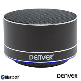 COLUNA BLUETOOTH PORTÁTIL 3W SD/BAT/LED PRETO DENVER