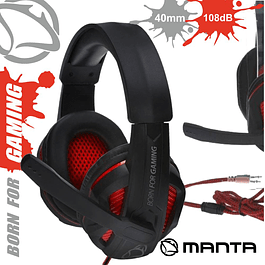 GAMING HEADPHONES FOR CONSOLE / PC JACK MANTA