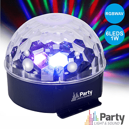 PROJECTOR LIGHT C / 6 LEDS 1W RGBWAV MIC PARTY