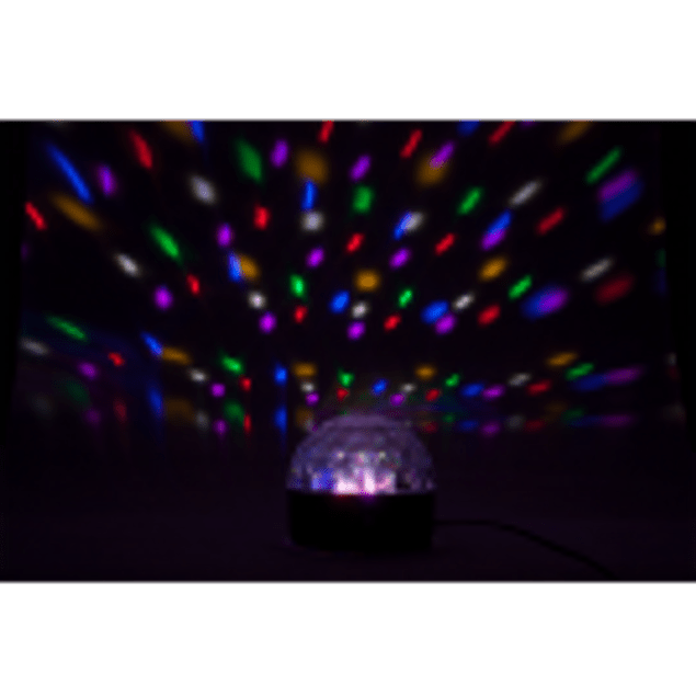PROJETOR LUZ C/ 6 LEDS 1W RGBWAV MIC PARTY
