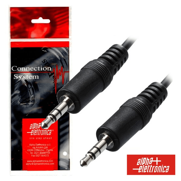 CABLE JACK 3.5MM MALE / JACK 3.5MM MALE 1.5M ST POLYBAG