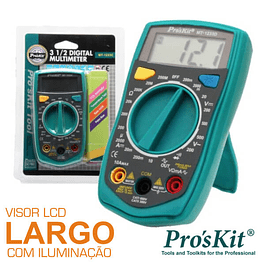 DIGITAL MULTIMETER 3½ DIGITS RETROILUMINADO PROSKIT
