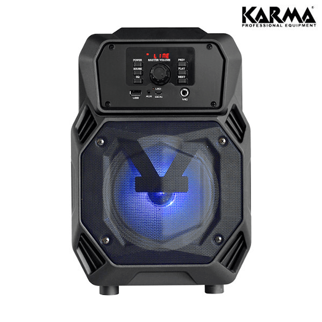 PORTABLE SPEAKER 6.5 ″ 200W PMPO USB / BT / BAT + 1 MICROPHONE