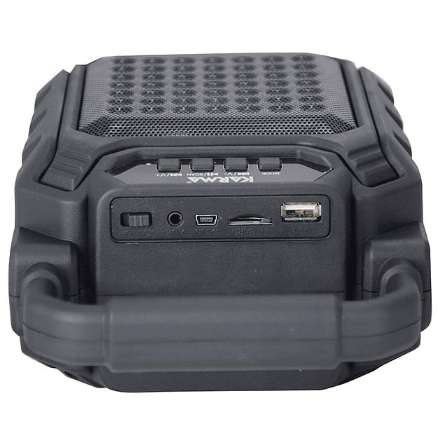 COLUNA PORTÁTIL 4″ 25W MÁX USB/MP3/BT/FM/BAT