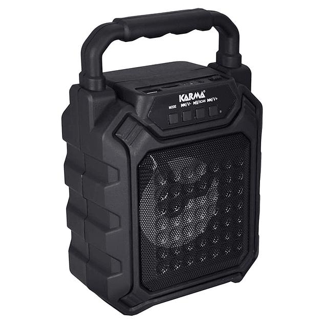 PORTABLE SPEAKER 4 ″ 25W MAX USB / MP3 / BT / FM / BAT