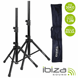 SET 2 COLUMN STANDS WITH POCKET 1.2M 30KG IBIZA