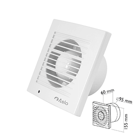 FAN EXTRACTOR 155X60X95MM WHITE