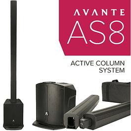 AVANTE AUDIO ACHROMIC AS8 800W COLUMN PA SYSTEM COM MIXER E BLUETOOTH