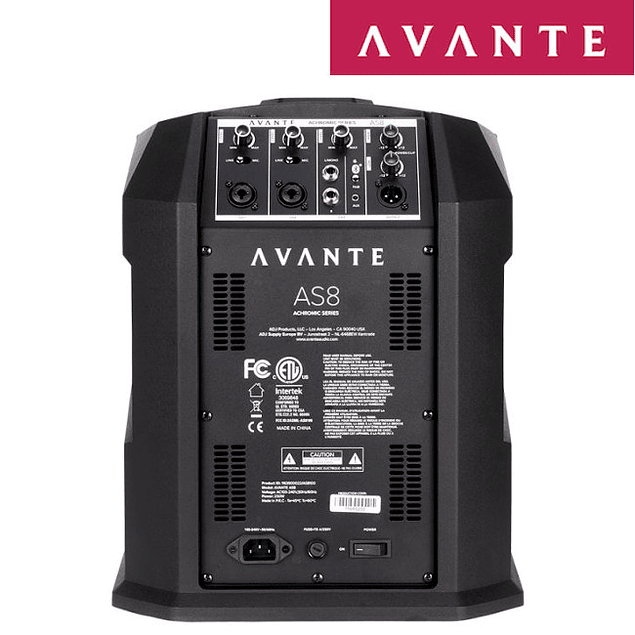 AVANTE AUDIO ACHROMIC AS8 800W COLUMN PA SYSTEM COM MIXER E BLUETOOTH