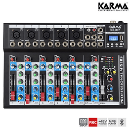 7 Channel USB / MP3 / REC / BT / FM Mixing Desk - KARMA