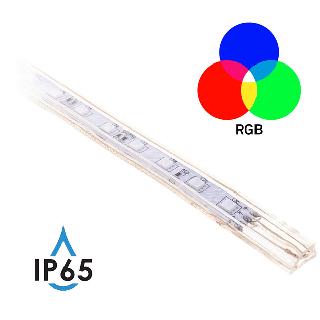 LED Strip Light 220V IP65 5050 SMD 14.4W RGB 10MM