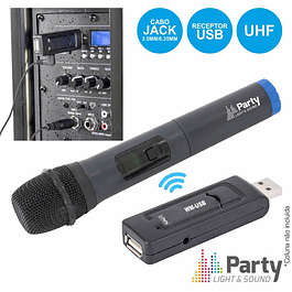 UHF WIRELESS MICROPHONE WITH USB PARTY RECEIVER
