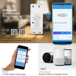 WIFI / SWITCH SWITCH COMPATIBLE WITH AMAZON ALEXA AND GOOGLE HOME