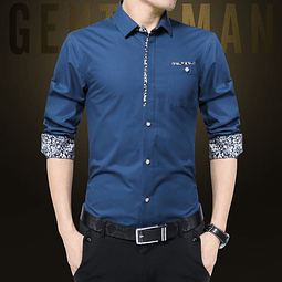 Camisa Azul Petroleo Slim fit