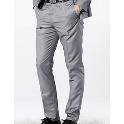 Pantalon de Tela Slim fit Gris