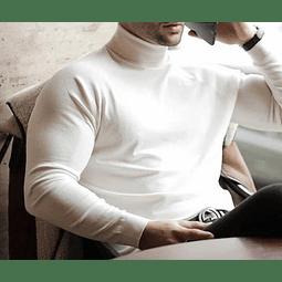 Beetle/Suéter Blanco Cuello alto