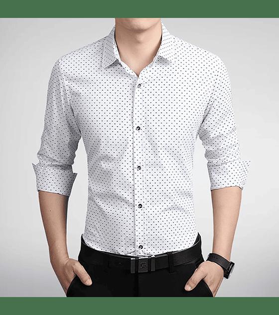 Camisa Slim fit Blanca con diseño