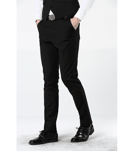 Pantalon de Tela Slim fit Negro
