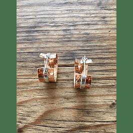 Arracada plata / cobre
