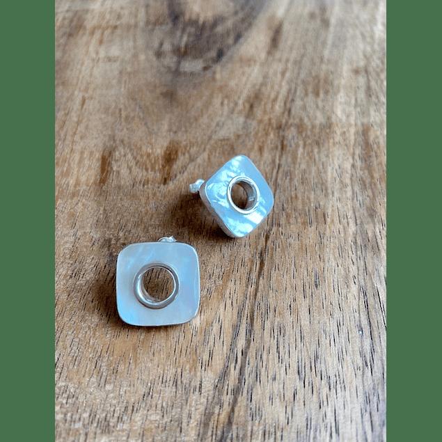 Aretes plata - Madre Perla