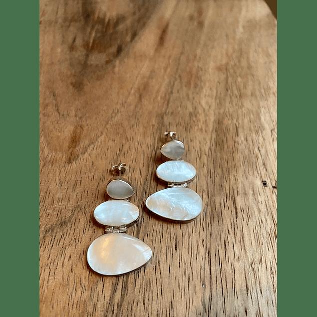 Aretes - plata / perla