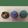 Esferas artesanales de Madera de Copal pintadas a mano