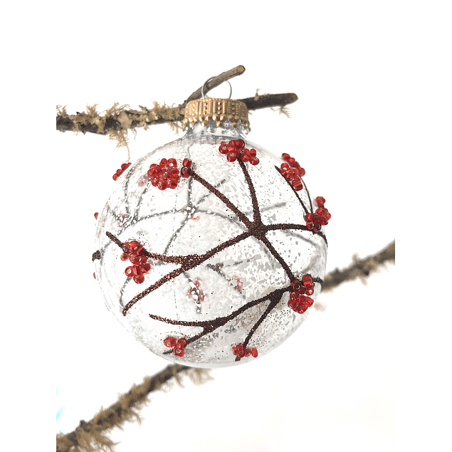 Esfera de chaquira con nieve